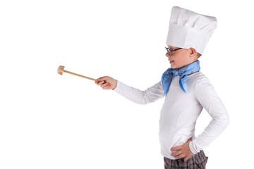 Koch mit Quirl
