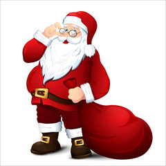 Isolated Santa Claus