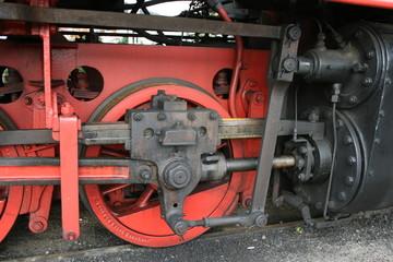 Dampfantrieb einer Lokomotive