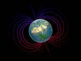 Earth with the magnetosphere