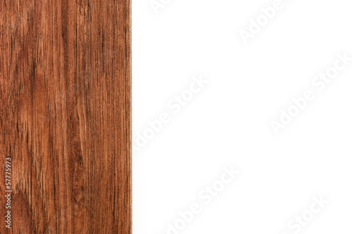 frame of laminate isolated on white background