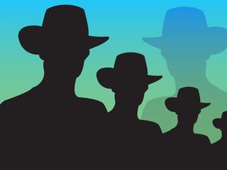 cowboy, vector illustration