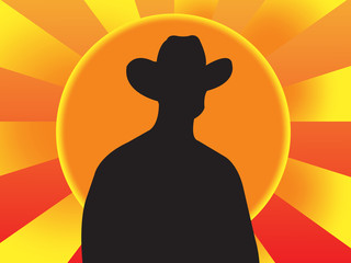 cool cowboy, vector illustration