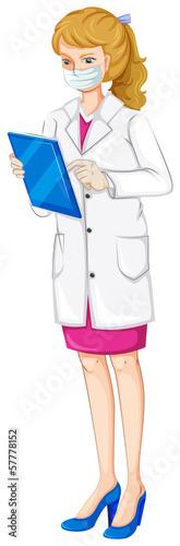 A female chemist