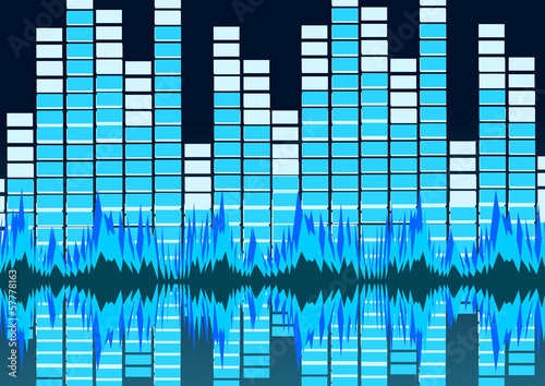 Sound waves Music background