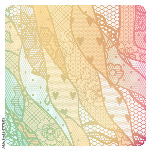 Lacy vintage vector background.