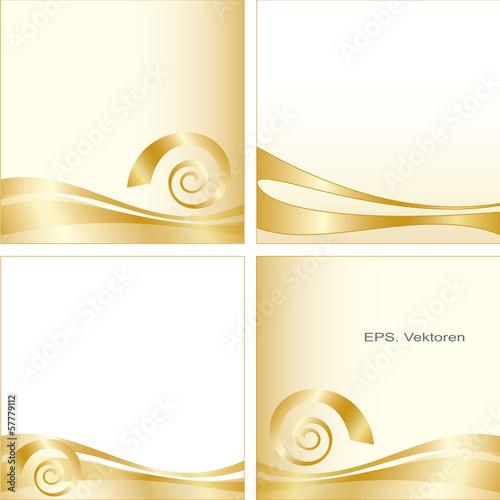 Goldener Hintergrund.  Varianten. Wellen