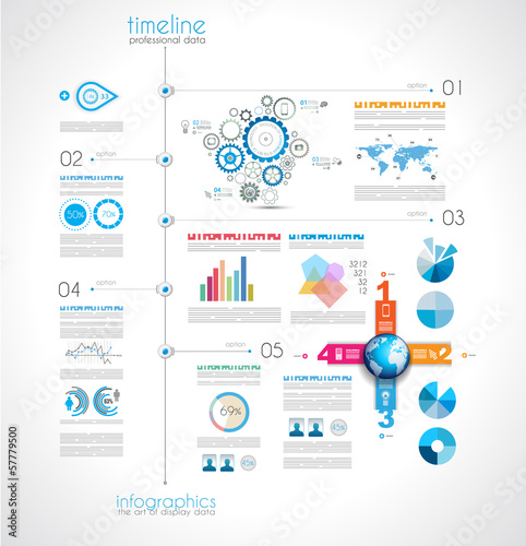 Timeline to display your data with Infographic