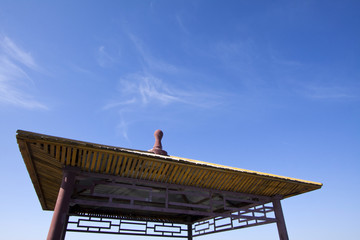 top of a pavilion in a scenic spot