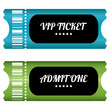 two VIP tickets with special design