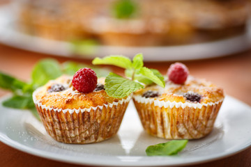 Cheese Muffins with berries