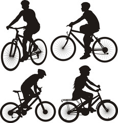 bicycle, bike, cyclist - icon