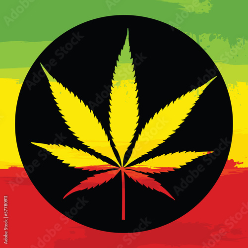 Marijuana leaf illustreation