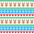 Christmas pattern with reindeer pattern - scandynavian sweater