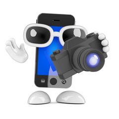 Smartphone has a camera