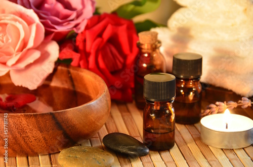 aromatherapy treatment with roses