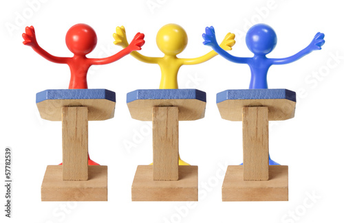 Miniature Figures on Rostrum