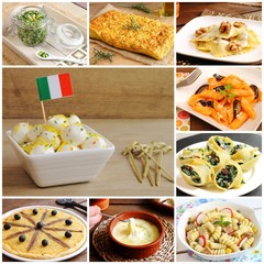 Collage of traditional Italian recipes