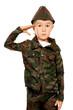 saluting