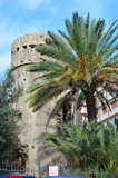 Sanremo,Liguria Italy,old tower called della Ciapela