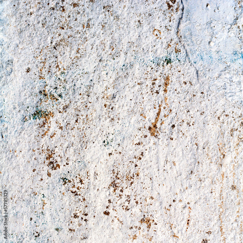 blue texture or background wall of shabby paint and plaster crac