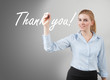 'thank you' on glass