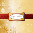 Gold Christmas Background. Vector