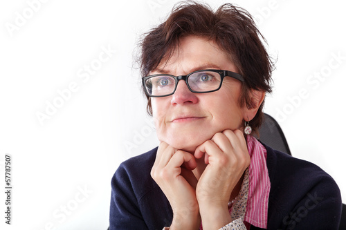 Portrait of a business woman with glasses