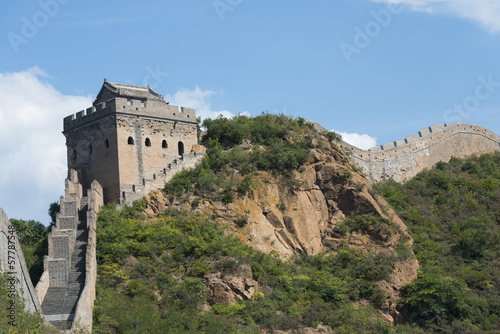 Fotobehang Chinese Muur Great Wall of China at Jinshanling
