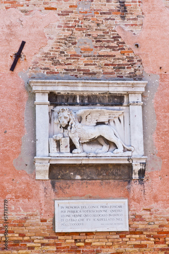 The winged lion of Venice.
