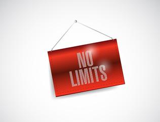 no limits hanging banner illustration design