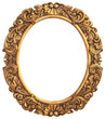 Antique gilded Frame Isolated with Clipping Path - 57788531