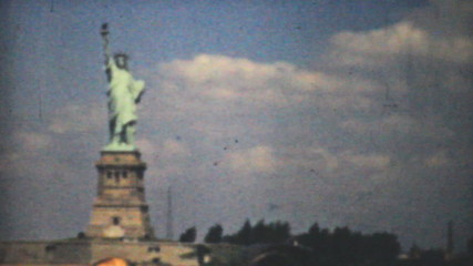Statue Of Liberty-New York Skyline-1940 Vintage 8mm film