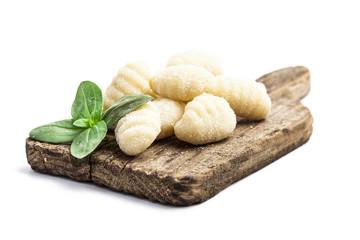 Uncooked freh gnocchi