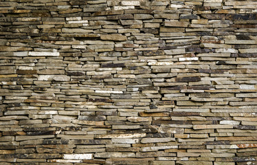Background wall of slate limestone slabs
