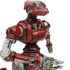 soldier robot close up