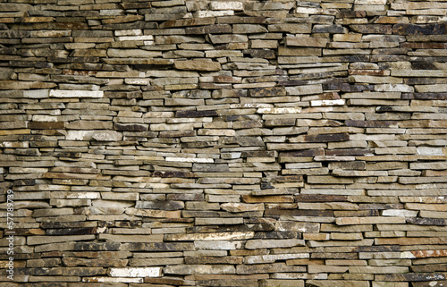 Background wall of slate limestone slabs