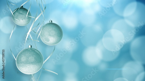 Christmas ornaments on beautiful background.
