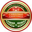 Christmas Greetings Vintage Label