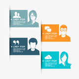 People Vector Banner Layouts