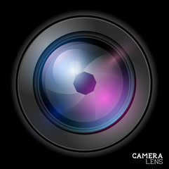 Camera lens icon - Vector illustration