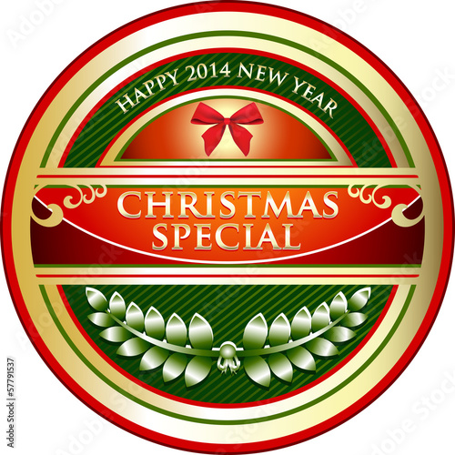 Christmas Special Vintage Label