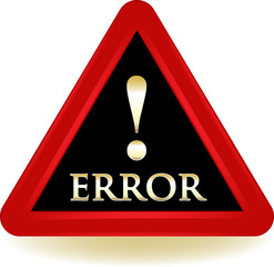Error Warning Sign