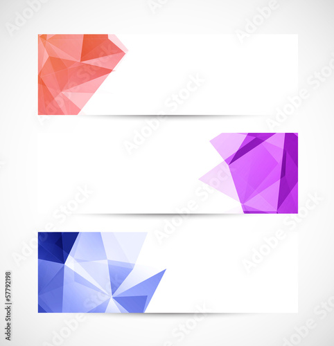 Set of geometric banners