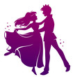 silhouette of prince and princess dancing