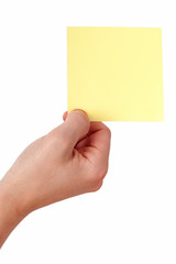 Hand holding list