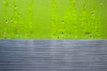 brushed metal window drops abstract