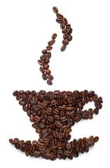 Kaffeetasse aus Bohnen