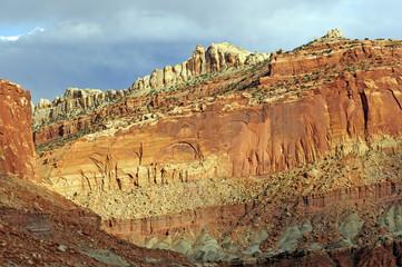 Sandstone Cliff in the Deset