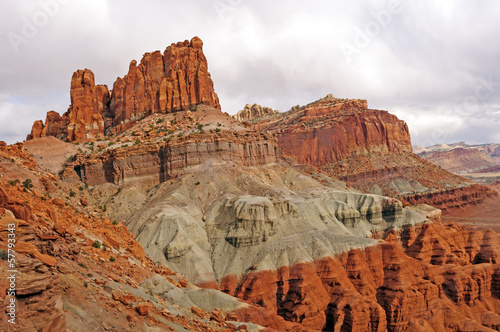 Dramatic Red Rock Spires in the Desert
